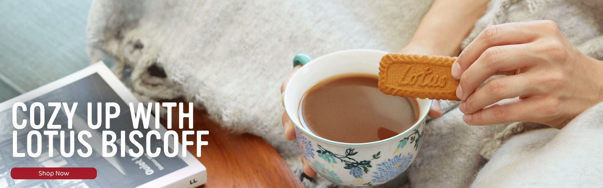 Cozy up with Lotus Biscoff